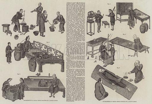 The Opium Smoker's Progress. Illustration for The Illustrated London News, 18 December 1858.