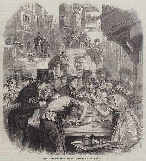 The First Day of Oysters, a London Street Scene