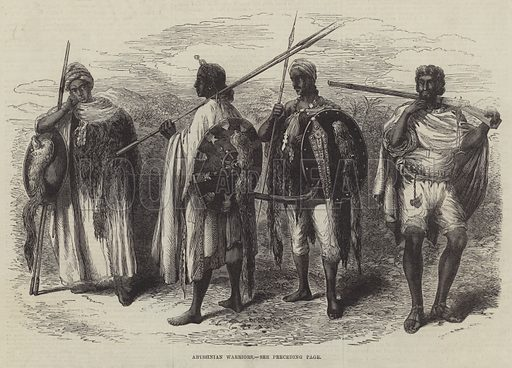 Abyssinian Warriors. Illustration for The Illustrated London News, 26 October 1867.