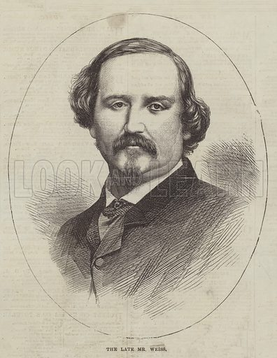 The late Mr Weiss. Illustration for The Illustrated London News, 9 November 1867.