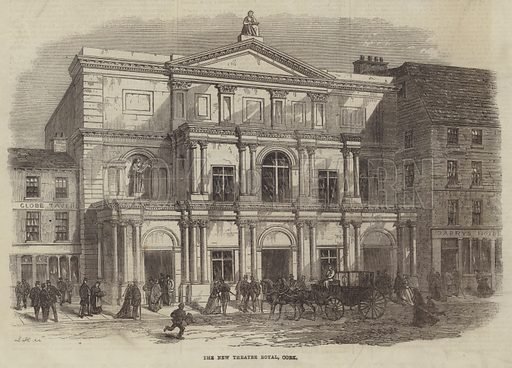 The New Theatre Royal, Cork. Illustration for The Illustrated London News, 23 November 1867.