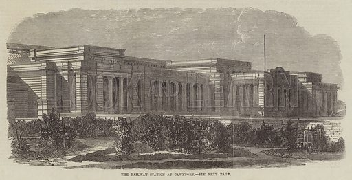 The Railway Station at Cawnpore. Illustration for The Illustrated London News, 23 November 1867.
