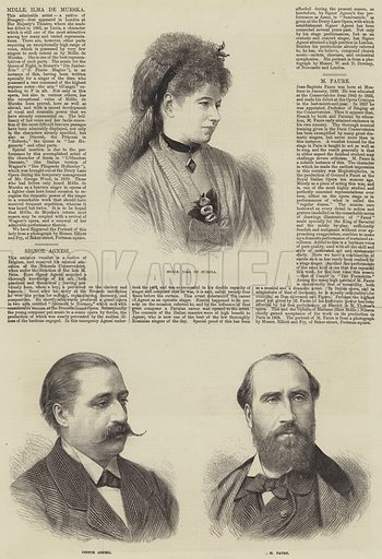 Victorian Opera Singers. Illustration for The Illustrated London News, 19 July 1873.