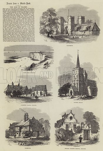 The Isle of Thanet. Illustration for The Illustrated London News, 23 August 1873.
