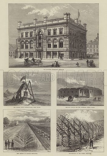 The Bradford Mechanics' Institute. Illustration for The Illustrated London News, 4 October 1873.