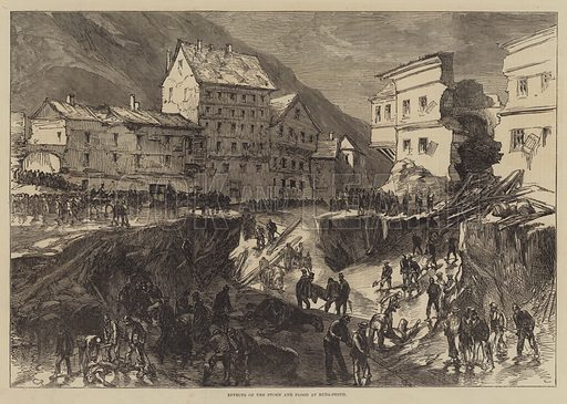 Effects of the Storm and Flood at Buda-Pesth. Illustration for The Illustrated London News, 17 July 1875.