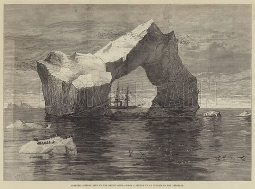 Gigantic Iceberg seen by the Arctic Ships