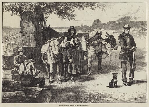 Quiet Times, a Sketch on Hampstead Heath. Illustration for The Illustrated London News, 9 October 1875.