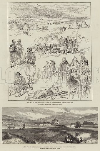 The War in Herzegovina. Illustration for The Illustrated London News, 27 November 1875.