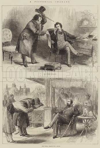 A Pictorial Charade. Illustration for The Illustrated London News, 15 December 1875.