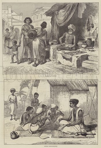 Scenes in India. Illustration for The Illustrated London News, 25 December 1875.