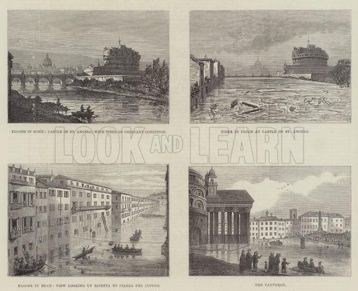 Floods in Rome. Illustration for The Illustrated London News, 30 November 1878.