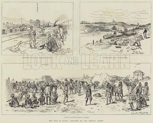 The War in Egypt. Illustration for The Illustrated London News, 23 September 1882.