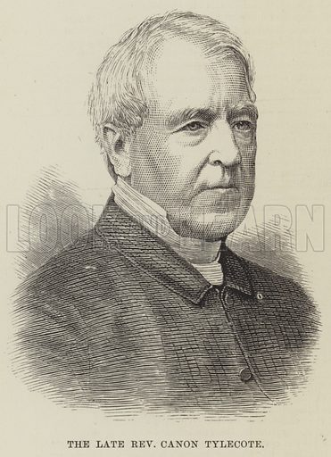 The late Reverend Canon Tylecote. Illustration for The Illustrated London News, 18 November 1882.