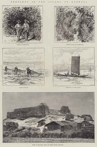 Sketches in the Island of Formosa. Illustration for The Illustrated London News, 6 September 1884.