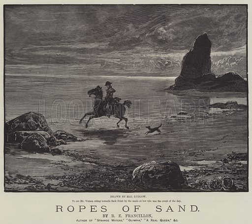 Ropes of Sand, by R E Francillon. Illustration for The Illustrated London News, 1 November 1884.