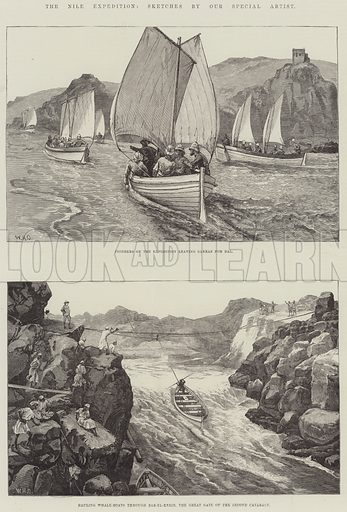 The Nile Expedition. Illustration for The Illustrated London News, 29 November 1884.