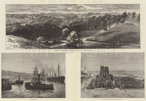 The Prince of Wales's Visit to the Tyne. Illustration for The Illustrated London News, 23 August 1884.