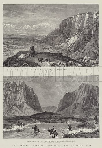 The Afghan Boundary Commission, the Zulfikar Pass. Illustration for The Illustrated London News, 9 January 1886.