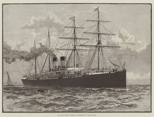 The New French Atlantic Steam-Ship La Bourgogne. Illustration for The Illustrated London News, 6 March 1886.