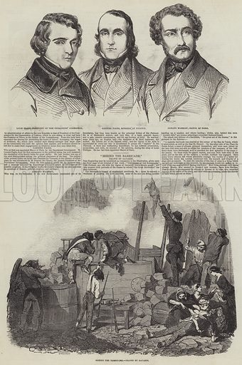 French Revolution of 1848. Illustration for The Illustrated London News, 18 March 1848.