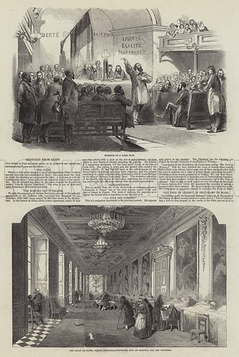 Sketches from Paris. Illustration for The Illustrated London News, 1 April 1848.