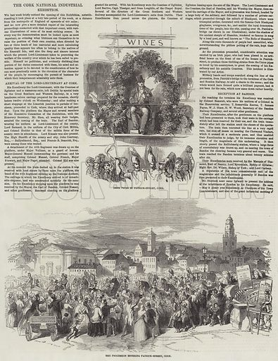The Cork National Industrial Exhibition. Illustration for The Illustrated London News, 19 June 1852.