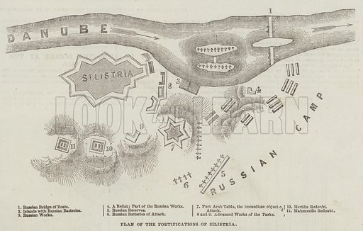 Plan of the Fortifications of Silistria. Illustration for The Illustrated London News, 15 July 1854.