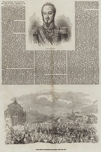 The Insurrection in Spain. Illustration for The Illustrated London News, 12 August 1854.