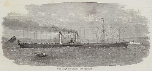 """The Iona,"" New Steamer. Illustration for The Illustrated London News, 22 September 1855."