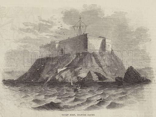 Thorn Fort, Milford Haven. Illustration for The Illustrated London News, 26 April 1856.