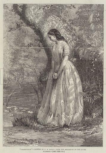 Maidenhood. Illustration for The Illustrated London News, 7 June 1856.