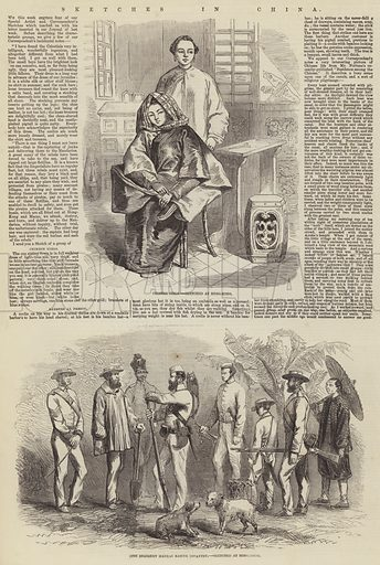 Sketches in China. Illustration for The Illustrated London News, 25 July 1857.