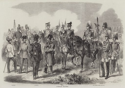 Austrian Soldiers. Illustration for The Illustrated London News, 18 June 1859.