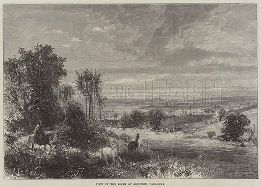 View up the River at Asuncion, Paraguay. Illustration for The Illustrated London News, 28 January 1865.