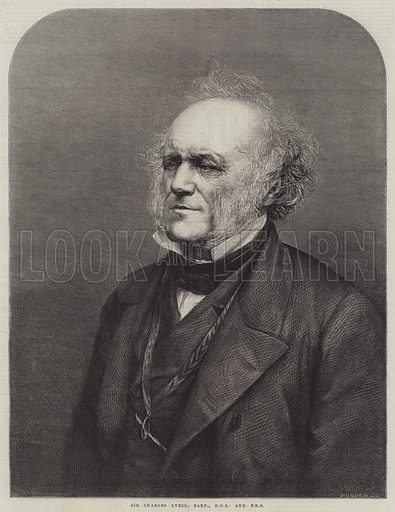 Sir Charles Lyell, Baronet, DCL and FRS. Illustration for The Illustrated London News, 11 March 1865.