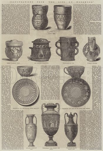 "Illustrations from ""The Life of Wedgwood"". Illustration for The Illustrated London News, 17 June 1865."
