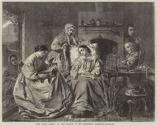 The Foster Sisters. Illustration for The Illustrated London News, 14 October 1865.