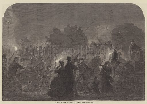 A Fog in the Streets of London. Illustration for The Illustrated London News, 12 January 1867.
