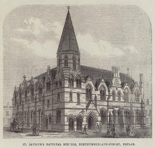 St Saviour's National Schools, Northumberland-Street, Poplar. Illustration for The Illustrated London News, 23 February 1867.