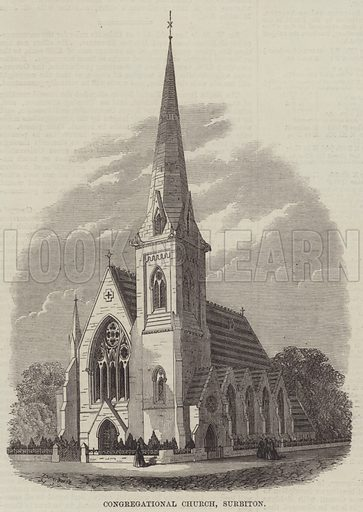 Congregational Church, Surbiton. Illustration for The Illustrated London News, 3 October 1868.