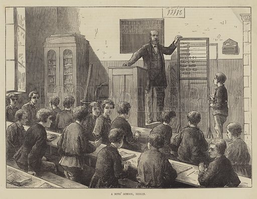 A Boys' School, Berlin. Illustration for The Illustrated London News, 23 January 1875.