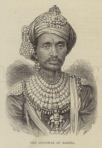 The Guicowar of Baroda. Illustration for The Illustrated London News, 30 January 1875.