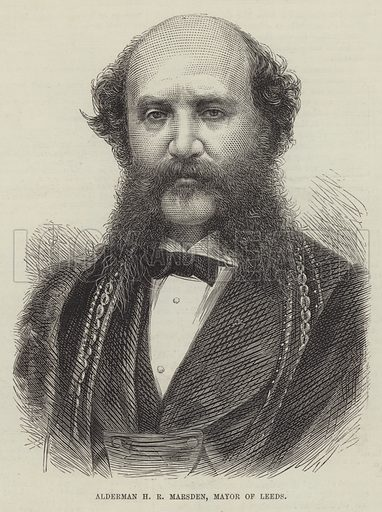 Alderman H R Marsden, Mayor of Leeds. Illustration for The Illustrated London News, 15 May 1875.