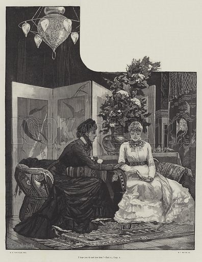 They Were Married, by Walter Besant and James Rice. Illustration for The Illustrated London News, Holiday Number 1882.