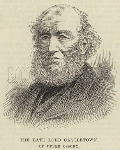 The late Lord Castletown, of Upper Ossory. Illustration for The Illustrated London News, 10 February 1883.