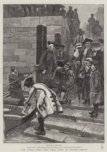 The World Went Very Well Then, by Walter Besant. Illustration for The Illustrated London News, 17 July 1886.