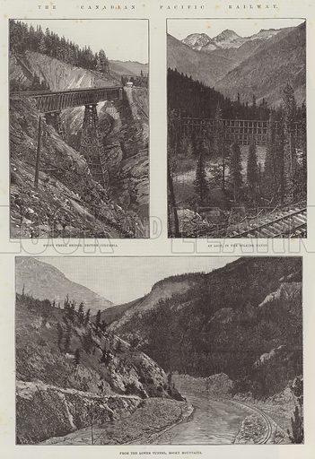 The Canadian Pacific Railway. Illustration for The Illustrated London News, 31 July 1886.