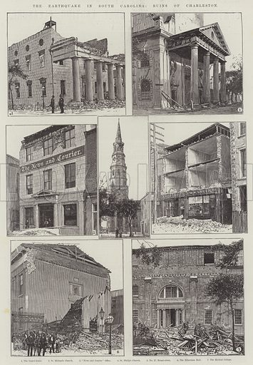 The Earthquake in South Carolina, Ruins of Charleston. Illustration for The Illustrated London News, 25 September 1886.