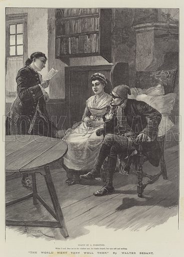 The World Went Very Well Then, by Walter Besant. Illustration for The Illustrated London News, 16 October 1886.